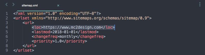 using sitemap xml to your advantage mc2